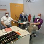 Networking am Emcab Stand ECOC 2021